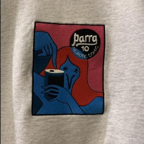 neurotic comic crew sweatshirt <ash grey> 【by parra】
