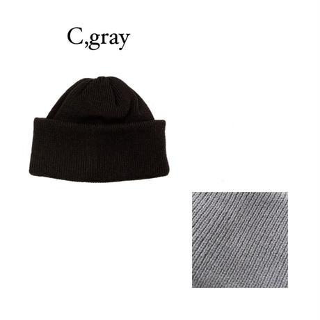 KNIT CAP <c,gray> 【Crepuscule】