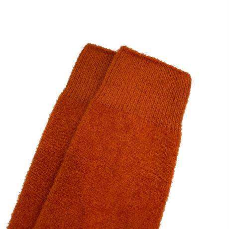 VERY VELOUR SOCKS <orange/camel> 【Rototo】