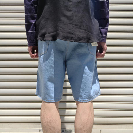 DENIM SHORTS SAXBLUE【 WESTOVERALLS 】