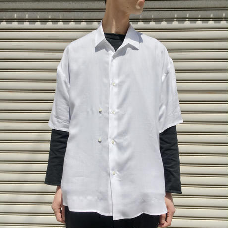 DOUBLE BOTTONED SHORT SLEEVE SHIRTS 【 THEE 】