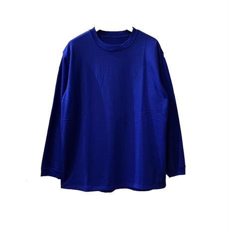 F/W FACE GIZA L/S T-SHIRT <royal> 【着もちいい服】【A.D.A.N】