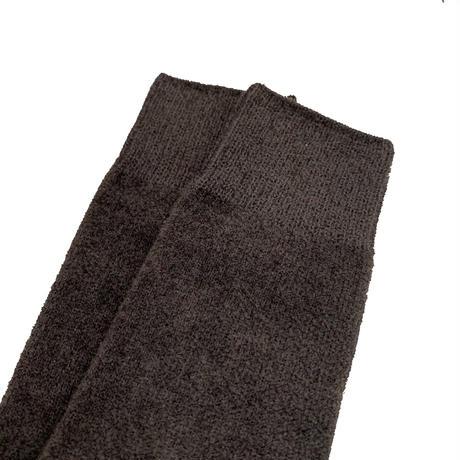 VERY VELOUR SOCKS <charcoal/olive> 【Rototo】
