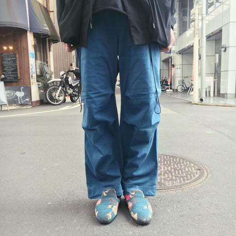 AZTEC FIELD TROUSERS with AWA INDIGO 【 CURLY 】