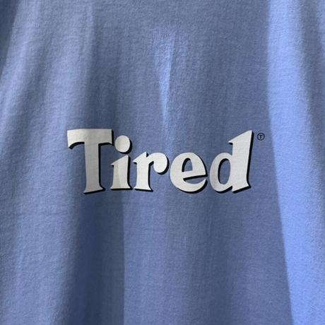 BLOODY TIRED SS TEE <dusty blue> 【TIRED】