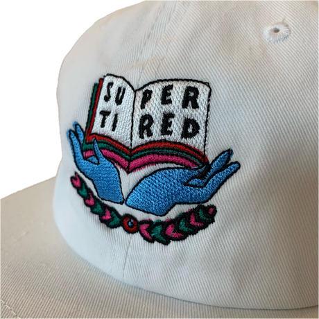 SCHOLAR 6-PANEL CAP <white> 【TIRED】