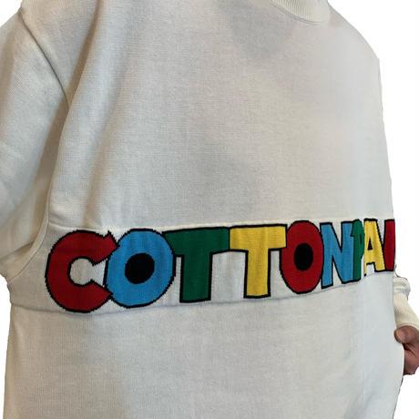 COTTON PAN KNIT <white> 【COTTON PAN】