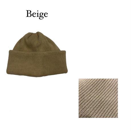 KNIT CAP <beige> 【Crepuscule】