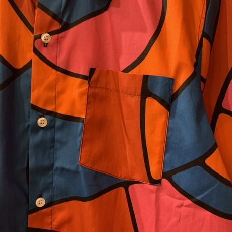 Serpent pattern shirt 【by parra】
