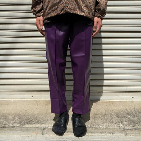 FAKE LEATHER TRACK PANTS 【 CHAHCHAH 】