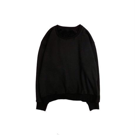 KIMONO L/S SWEAT SHIRT <black> 【着もちいい服】【A.D.A.N】
