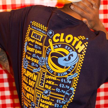 24 HOUR MENU Oversized Pocket T-Shirt 【NAVY】