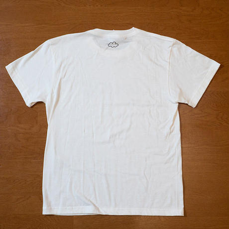 CLOUDY LOGO T-SHIRTS(WHITE)