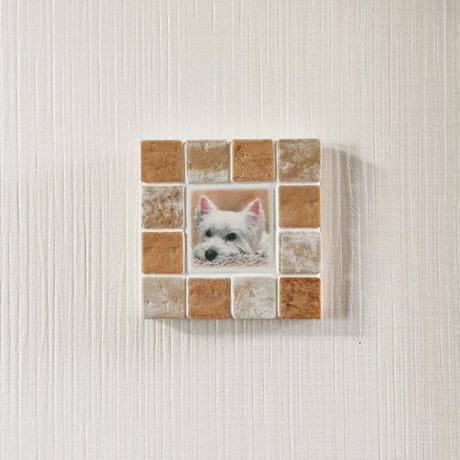 アンティークカラー/アイボリー(S)◆Tile Picture Frame(S)/Antique Tone/IVORY◆
