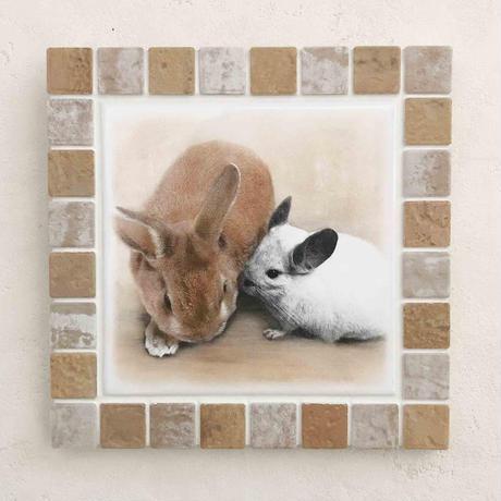 アンティークカラー/アイボリー(L)◆Tile Picture Frame(L)/Antique Tone/IVORY◆