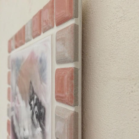ブライトカラー/サーモンピンク(L)◆Tile Picture Frame(L)/Bright Tone/SALMON PINK◆