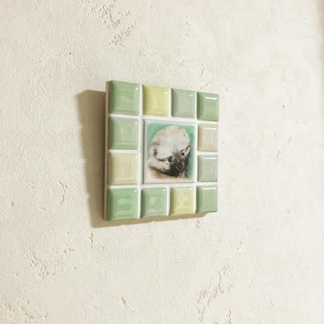 ブライトカラー/フレッシュグリーン(S)◆Tile Picture Frame(S)/Bright Tone/FRESH GREEN◆