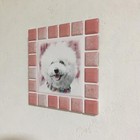 ブライトカラー/フレンチローズ(M)◆Tile Picture Frame/Bright Tone/FRENCH ROSE(M)◆