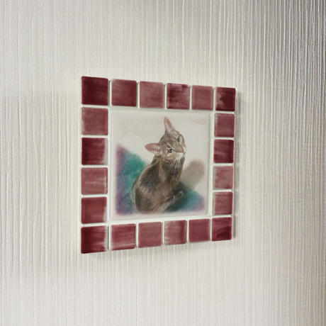 アンティークカラー/サンライズレッド(M)◆Tile Picture Frame(M)/Antique Tone/SUNRISE RED◆