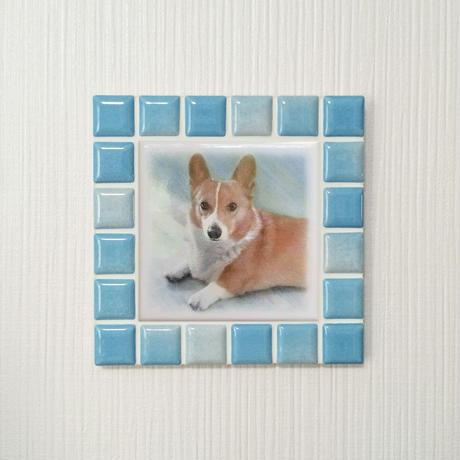 ブライトカラー/スカイブルー(M)◆Tile Picture Frame(M)/Bright Tone/SKY BLUE◆