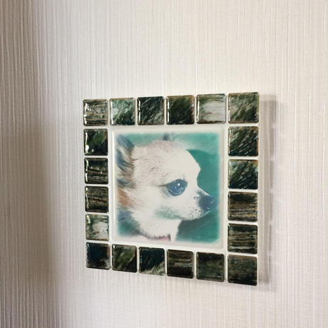 アンティークカラー/グラッシーグリーン(M)◆Tile Picture Frame(M)/Antique Tone/GRASSY GREEN◆