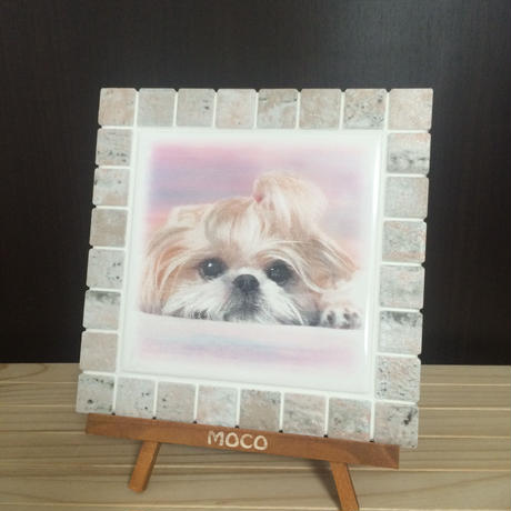 アンティークカラー/コーラル(M)◆Tile Picture Frame(M)/Antique Tone/CORAL◆