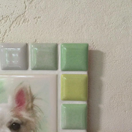ブライトカラー/フレッシュグリーン(M)◆Tile Picture Frame(M)/Bright Tone/FRESH GREEN◆