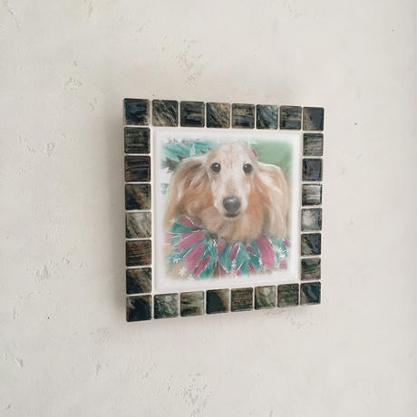 アンティークカラー/グラッシーグリーン(L)◆Tile Picture Frame(L)/Antique Tone/GRASSY GREEN◆
