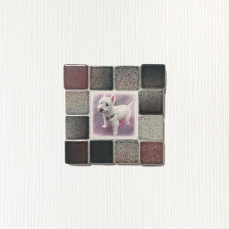フォギーカラー/ブラックレッド(S)◆Tile Picture Frame(S)/Foggy Tone/BLACK-RED◆
