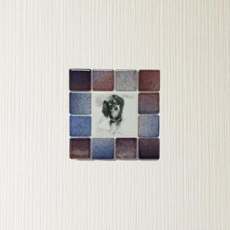 フォギーカラー/サンセットブルー(S)◆Tile Picture Frame(S)/Foggy Tone/SUNSET BLUE◆