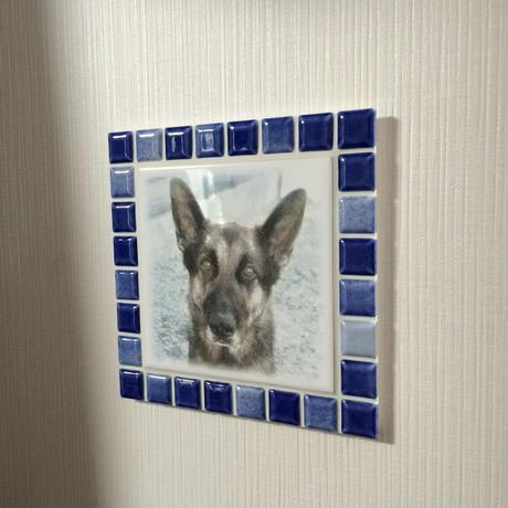 ブライトカラー/インディゴブルー(L)◆Tile Picture Frame(L)/Bright Tone/INDIGO BLUE◆