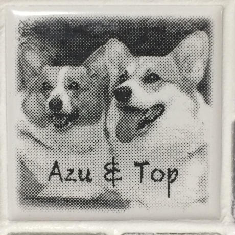 アンティークカラー/マーブルグレー(S)◆Tile Picture Frame(S)/Antique Tone/MARBLE GRAY◆