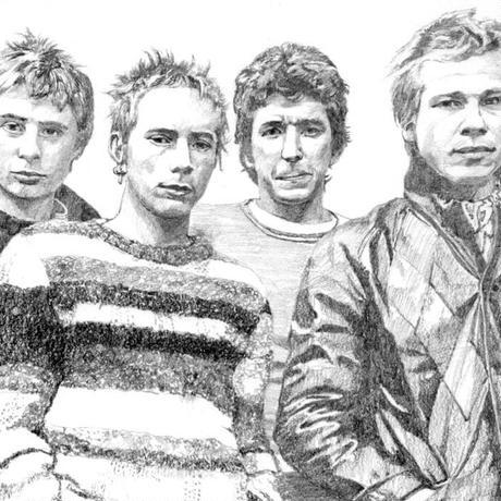 Sex Pistols drawing by Jimmy Mashiko