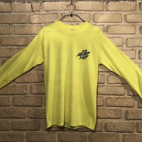 ◆2021 CLUB HEAVY SICK 前後面プリント長袖Tシャツ by YASSUTAKA [セーフティーグリーン] Lサイズ◆