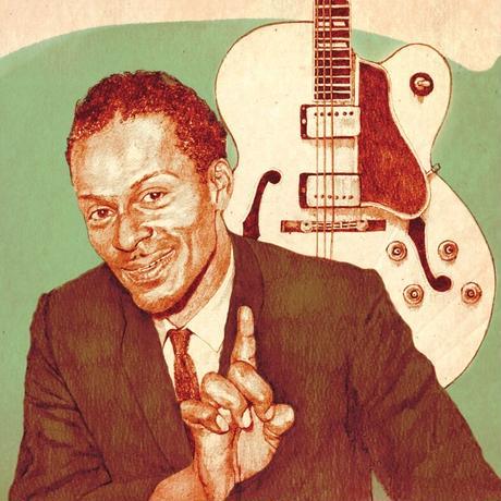 Chuck Berry drawing by Jimmy Mashiko