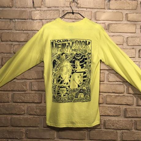 ◆2021 CLUB HEAVY SICK 前後面プリント長袖Tシャツ by YASSUTAKA [セーフティーグリーン] XLサイズ◆