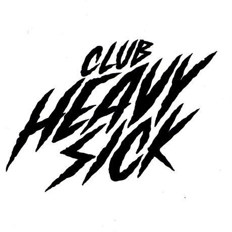 ◆2021 CLUB HEAVY SICK 前後面プリント長袖Tシャツ by YASSUTAKA [セーフティーグリーン]◆