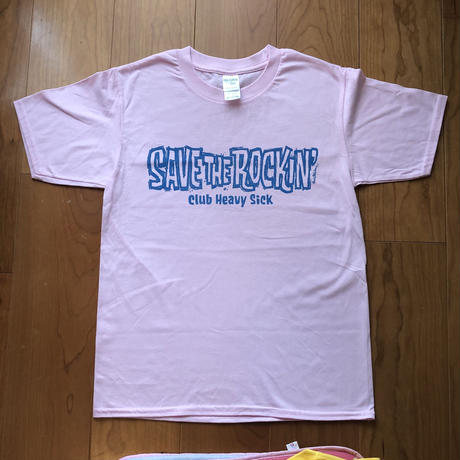 ◆SAVE THE ROCKIN' T-SHIRTS DESIGN by ROCKIN' JELLY BEAN / ライトピンク / XS◆
