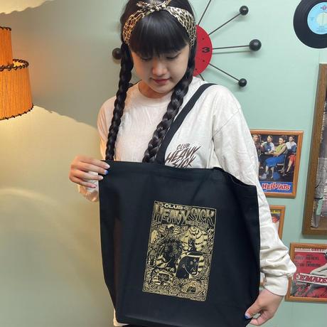 ◆キャンバストートバッグ (Lサイズ) by YASSUTAKA [ブラック]◆