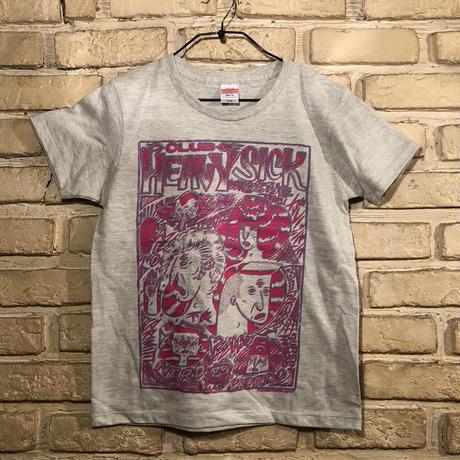 ◆2021 CLUB HEAVY SICK ガールズ・2色プリント半袖Tシャツ by YASSUTAKA [オートミール] Mサイズ◆