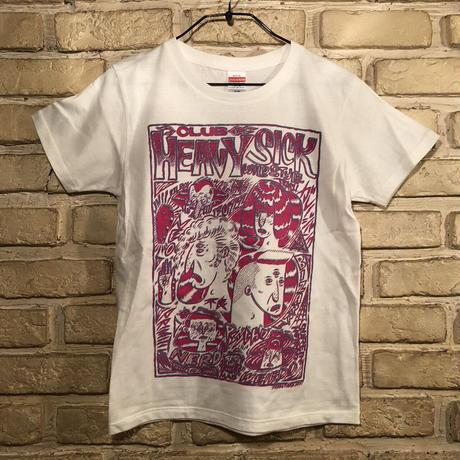 ◆2021 CLUB HEAVY SICK ガールズ・2色プリント半袖Tシャツ by YASSUTAKA [バニラホワイト] Mサイズ◆
