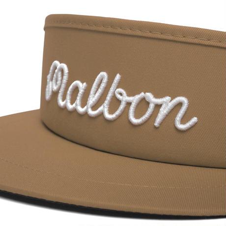 Malbon Script logo Tour Visor V3 -Khaki/White