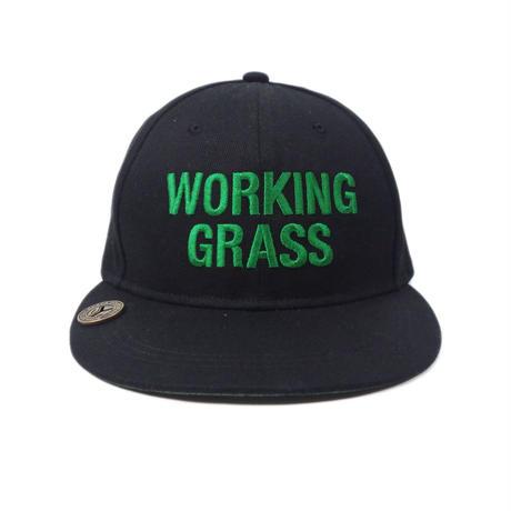 "CheckYourHead ""WORKING GRASS""  Cap - Black"