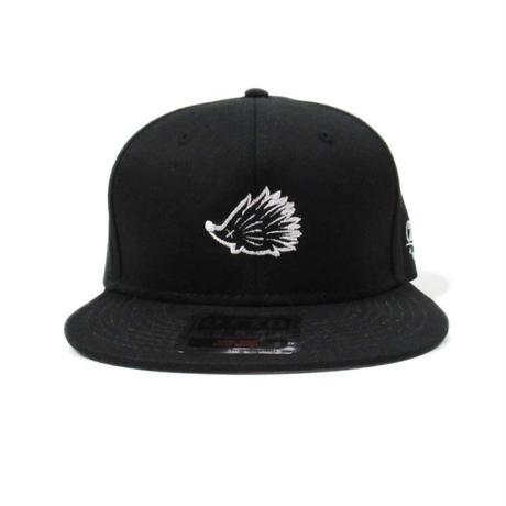 Mono Wedgehog Flat Visor Hat Black