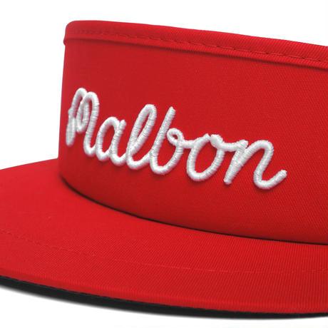 Malbon Script logo Tour Visor V3 -Red/White