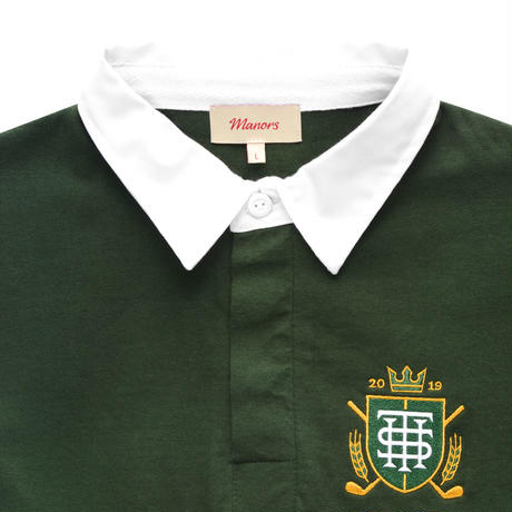 Manors Rugby Shirt – Green/White
