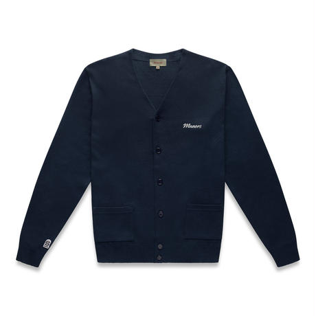 MANORS Knitted Cardigan – Navy