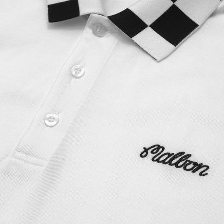 Malbon Golf SHRIKE Checkered Polo WHITE