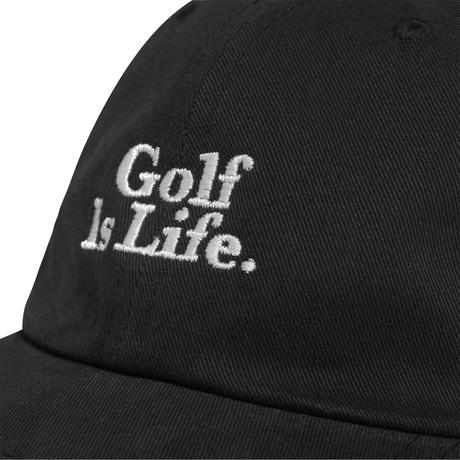 "Malbon ""Golf Is Life"" Dad Hat - Black"