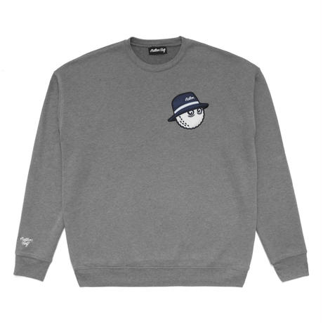 Malbon Golf Cooper Sweat Shirt Heather Silver